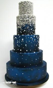 wedding photo - Starry Night Cake