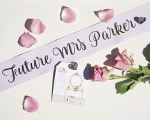 wedding photo - Custom Hens Party Sashes With Pin Included // Bachelorette Party Sash // Birthday Sash // Bride To Be Sash // Future Mrs Sash