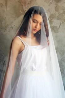 wedding photo - Drop veil, wedding veil, veil, bridal veil, veil wedding, cathedral veil