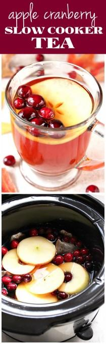 wedding photo - Apple Cranberry Slow Cooker Tea
