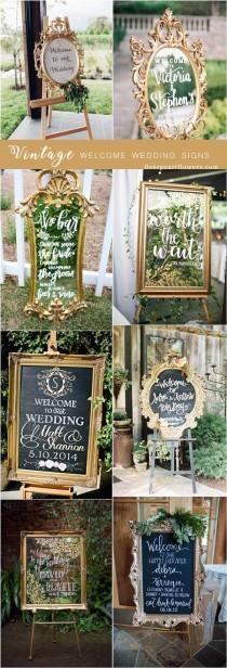 wedding photo - 20 Vintage Welcome Wedding Sign Ideas