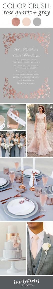 wedding photo - Color Crush: Rose Quartz And Gray