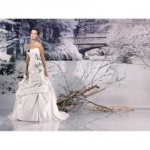 wedding photo - Miss Paris, 133-01 ivoire et noir - Superbes robes de mariée pas cher