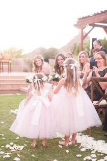 wedding photo - Flower Girl Dress As Seen on WeddingChicks.com Pink Blush