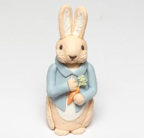 wedding photo - Fondant garden Birthday bunny cake topper - Estimated arrival: November 15th-16th