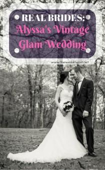 wedding photo - Real Brides: Alyssa's Vintage Glam Wedding