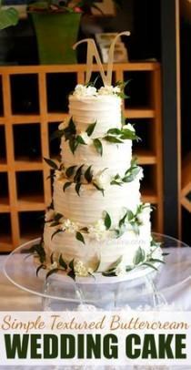 wedding photo - Textured Buttercream Cake