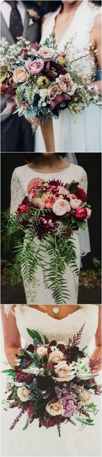 wedding photo - Trending-15 Gorgeous Burgundy And Blush Wedding Bouquet Ideas - Page 2 Of 3