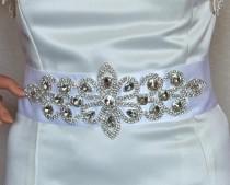 wedding photo - Bridal Rhinestone Sash