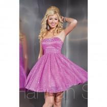 wedding photo - Geranium Hannah S 27863 - Short Sequin Dress - Customize Your Prom Dress