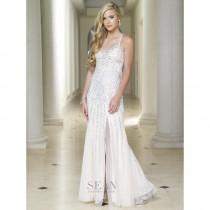 wedding photo - Sean Collection 50498 Pearl Beaded Gown - Brand Prom Dresses