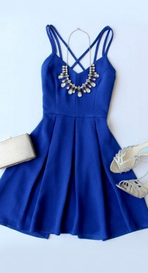wedding photo - To The Rescue Royal Blue Dress