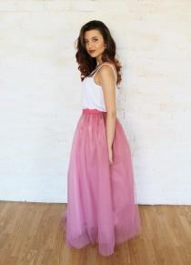 wedding photo - Rose tulle skirt, tutu skirt, bridesmaid dress, bridesmaid skirt