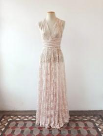 wedding photo - Bohemian separates, lace cover wedding dress, rose gold lace dress, unlined lace dress, bridal separates, lace overdress wedding, lace dress