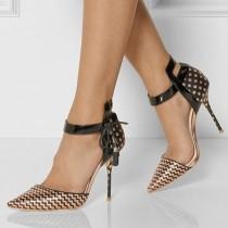 wedding photo - Golden Printed Stiletto Heels