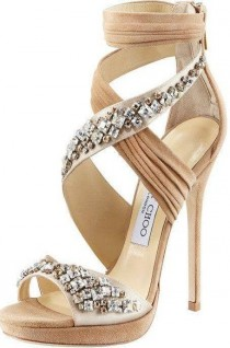wedding photo - Nude Sandals By Jimmy Choo - Shop Now