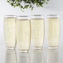 wedding photo - Personalized Champagne Flutes