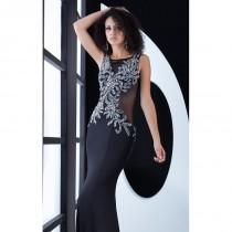 wedding photo - Black Beaded Embellished Gown by Jasz Couture - Color Your Classy Wardrobe