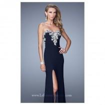 wedding photo - Metallic Embroidered Gown by La Femme 21292 - Bonny Evening Dresses Online