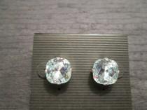wedding photo - Swarovski Stud Earrings/Light Azore Swarovski Crystal Earrings/Pale Blue Crystal Studs/ Light Azure Bridesmaid Earrings/Light Blue Crystal