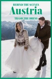 wedding photo - Behind The Scenes: Trash The Dress In Hallstatt And Bad Gastein Alps