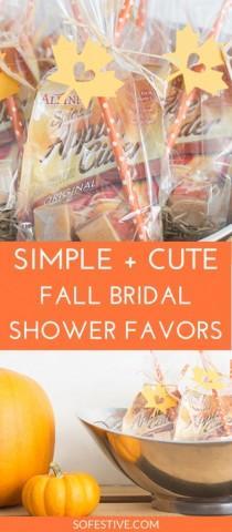 "wedding photo - ""Fallen In Love"" Fall Bridal Shower Favors"