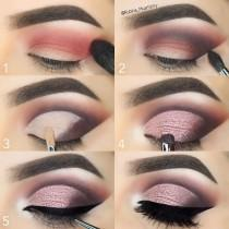 wedding photo - Pink Sparkly Cut Crease Tutorial