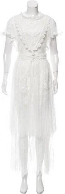wedding photo - Tsumori Chisato Wedding Lace Maxi Dress w/ Tags