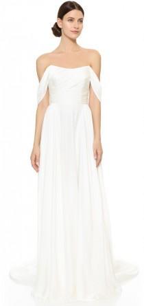 wedding photo - Theia Delphine Off Shoulder Gown
