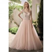 wedding photo - Style F191014 by Jasmine Collection - Ivory  Champagne  Blush Beaded  Tulle Low Back Floor Illusion  Scooped Wedding Dresses - Bridesmaid Dress Online Shop