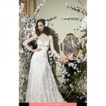 wedding photo - YolanCris - Isola Romantic Vintage Floor Length High Neck Classic Long sleeve No - Formal Bridesmaid Dresses 2017