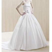 wedding photo - Blue Bridal Strapless Elazig Wedding Dress