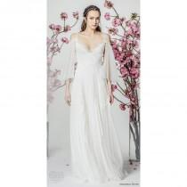 wedding photo - Marchesa Notte Spring/Summer 2018 Sweet Aline Beach Bridal Dress Sweet Ivory Aline 3/4 Sleeves Tulle Beach Bridal Dress - Rosy Bridesmaid Dresses