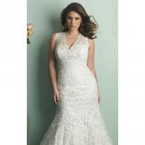 wedding photo - Lace Wedding Gown by Allure Bridals - Color Your Classy Wardrobe
