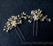 wedding photo - Sale - Hair Pin Bridal Hair Pins Silver Bridal Headpiece Bridal Hairpiece Wedding Hair Bridal Hair Accessory Bridal Hair Piece