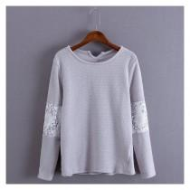 wedding photo - Must-have Vogue Attractive Hollow Out Crochet Scoop Neck Long Sleeves Hoodie Basics - beenono.com