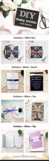 wedding photo - Top 6 DIY Wedding Invitations And Ideas By Elegant Wedding Invites