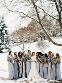 wedding photo - Winter Wedding Photoshoot