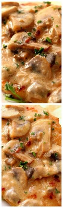 wedding photo - Creamy Mushroom Garlic Chicken