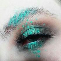 wedding photo - Green Eye Makeup