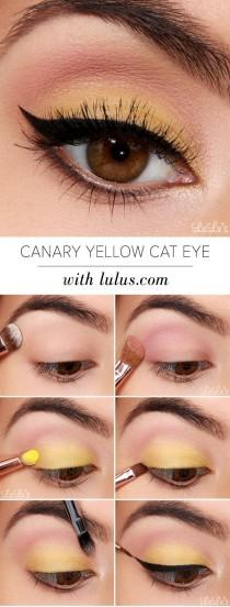wedding photo - Canary Yellow Cat Eye
