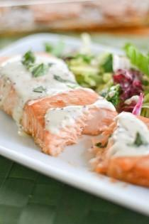 wedding photo - Salmon With Creole Mustard Sauce