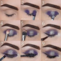 wedding photo - Purple Sparkly Makeup