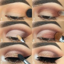 wedding photo - Rose Gold Eye Makeup