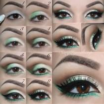 wedding photo - Green Eye Makeup