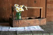 wedding photo - Vintage Wood Tool Box, Rustic Home Decor, Wood Caddy, Wedding Rustic Caddy, Rustic Wedding Storage, Rustic Tool Box, Carpenters Tool Box