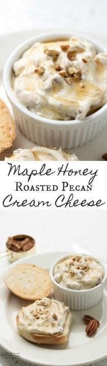 wedding photo - Maple Honey Roasted Pecan Cream Cheese