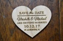 wedding photo - Sale Price! Save the date heart Magnets with envelopes, Save The Date, Wood Save The Date Magnet, Personalized Save The Date Magnet, Wedding