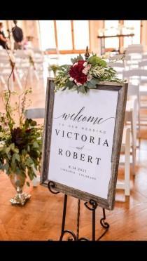 wedding photo - Elegant Welcome to our Wedding Sign Template Welcome Wedding Template Welcome Wedding Sign DIY Wedding Welcome Sign PDF Welcome Wedding
