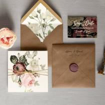 wedding photo - English Garden - Luxury Folding Wedding Invitations & Save the Date. Rustic twine, woodland wedding invitations, wax seal. Invites Australia